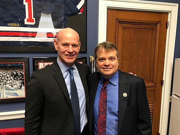 Congressman Quigley pictured with Insulators IVP Tim Keane
