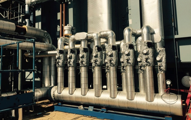 Image of large complex piping valve components