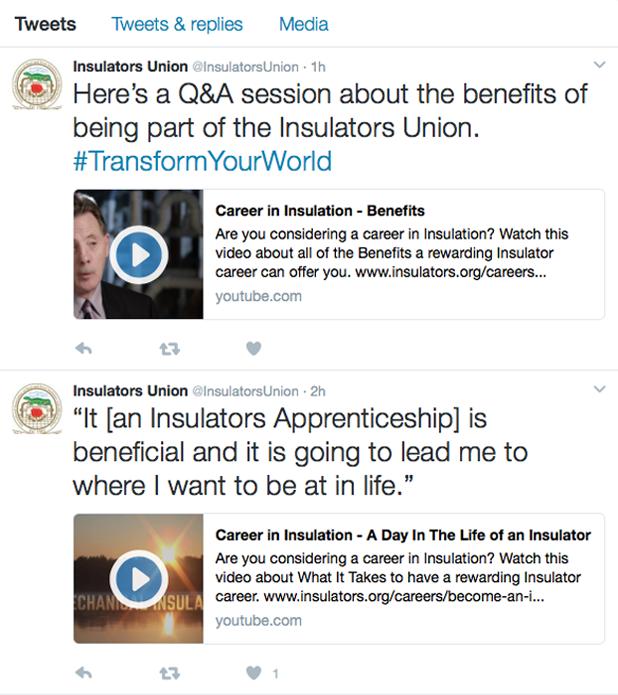 Insulators Twitter Feed